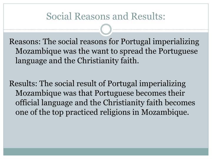 Social Reasons and Results: