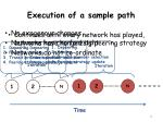 execution of a sample path