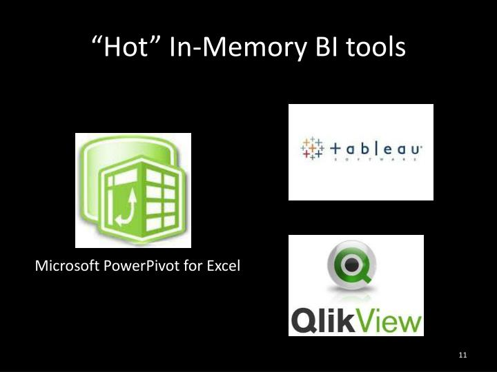 """Hot"" In-Memory BI tools"