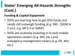 states emerging all hazards strengths cont4