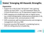 states emerging all hazards strengths