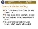 security institution building