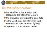 the dependence problem