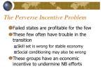 the perverse incentive problem