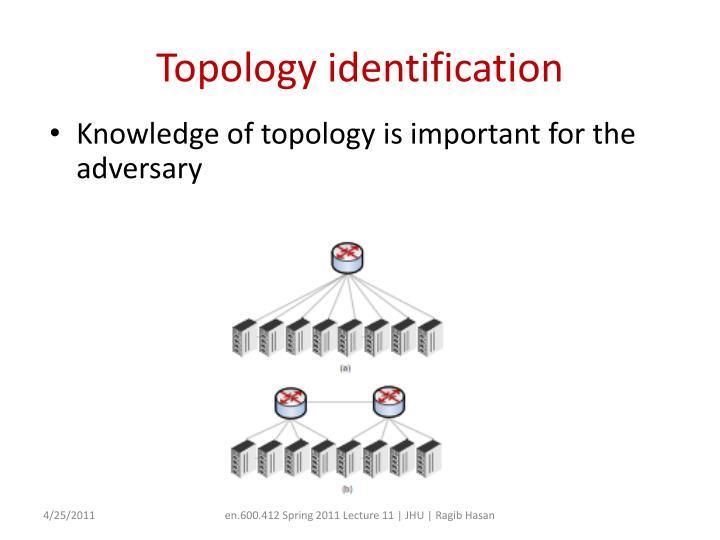 Topology identification