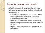 ideas for a new benchmark1