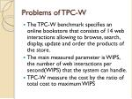 problems of tpc w