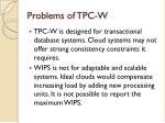 problems of tpc w1