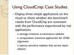 using cloudcmp case studies