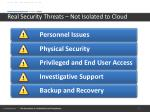 real security threats not isolated to cloud