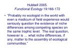 hubbell 2005 functional ecology 19 166 172