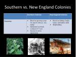 southern vs new england colonies
