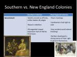 southern vs new england colonies1