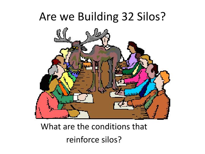 are we building 32 silos n.