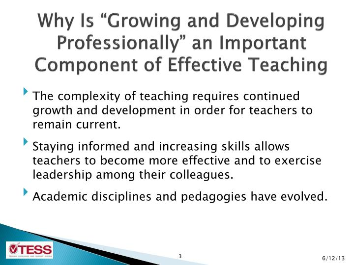 component of effective teaching
