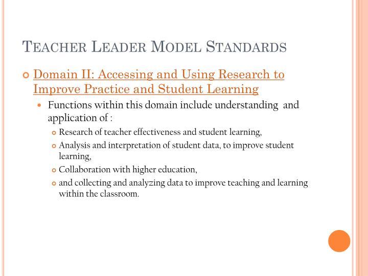 Teacher Leader Model Standards