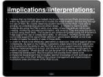 iimplications iinterpretations