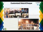 customized award cheque