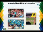 in stadia cheer materials branding