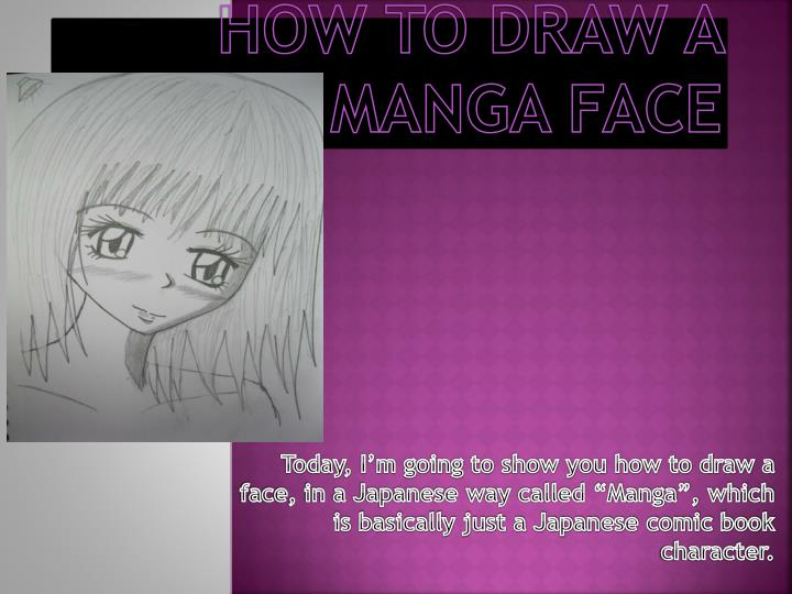how to draw a manga face n.
