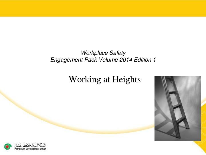 workplace safety engagement pack volume 2014 edition 1 n.