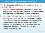 factors affecting reaction rate temperature1