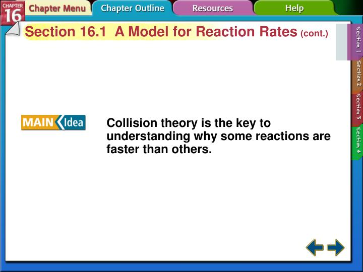 Section 16.1  A Model for Reaction Rates