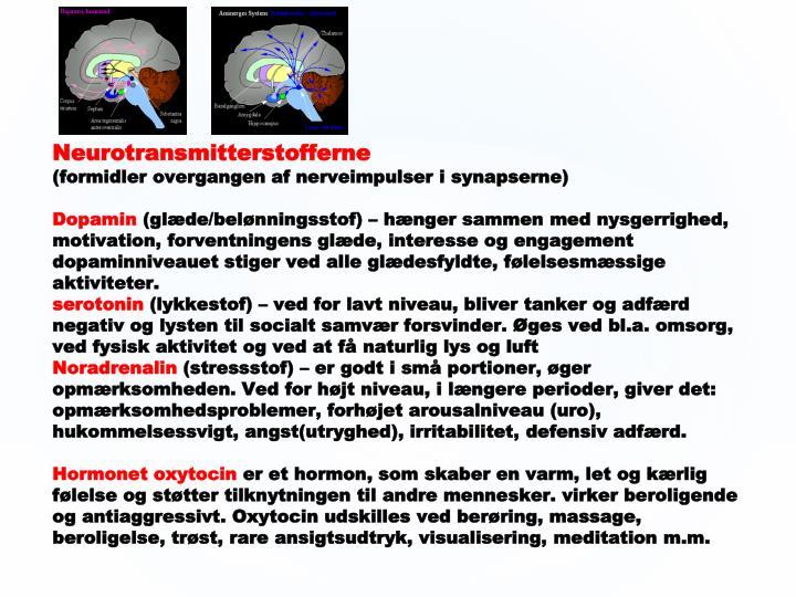 Neurotransmitterstofferne