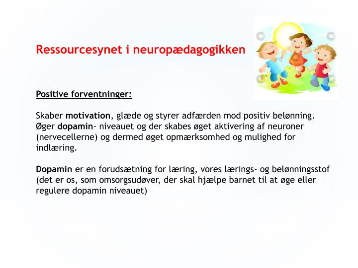 Ressourcesynet i neuropædagogikken