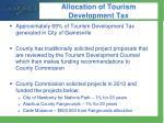 allocation of tourism development tax