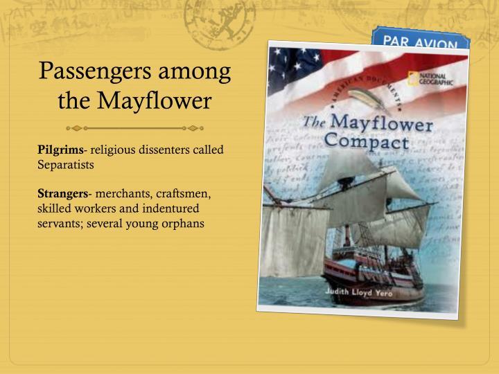 Passengers among the Mayflower