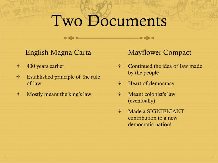 Two Documents
