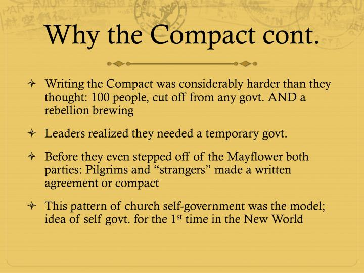 Why the Compact cont.
