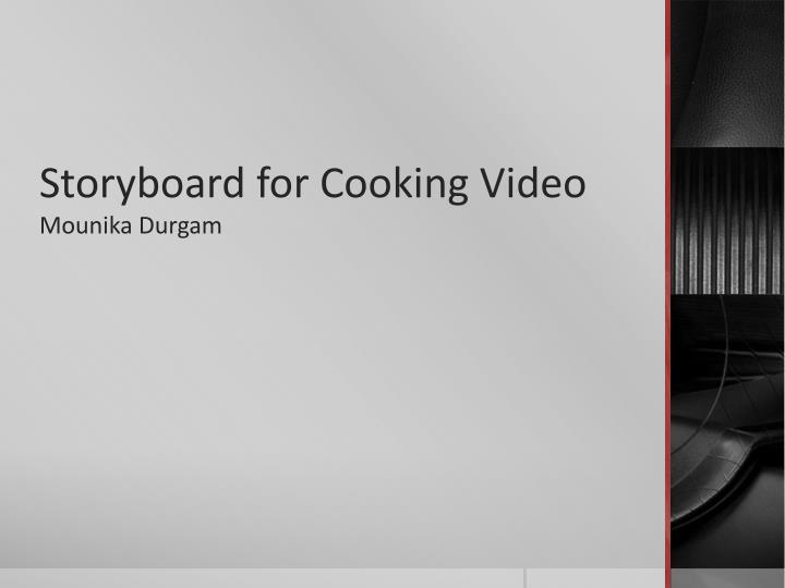 storyboard for cooking video n.