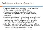 evolution and social cognition
