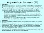 argument ad hominem 11