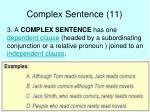 complex sentence 11