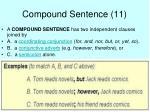 compound sentence 11