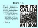 idiom 11