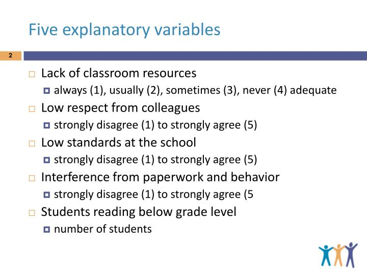 Five explanatory variables