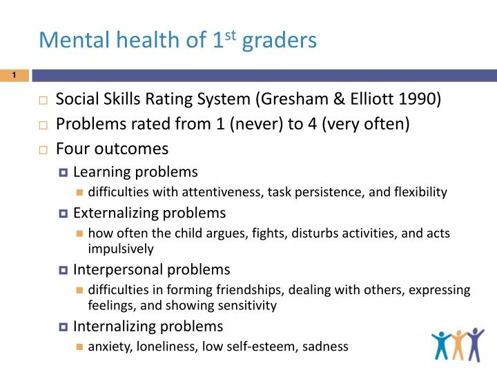 mental health of 1 st graders n.