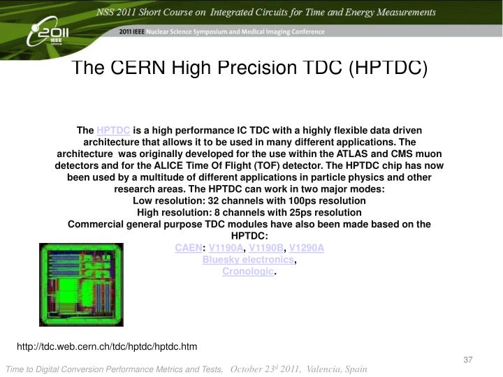 The CERN High Precision TDC (HPTDC)