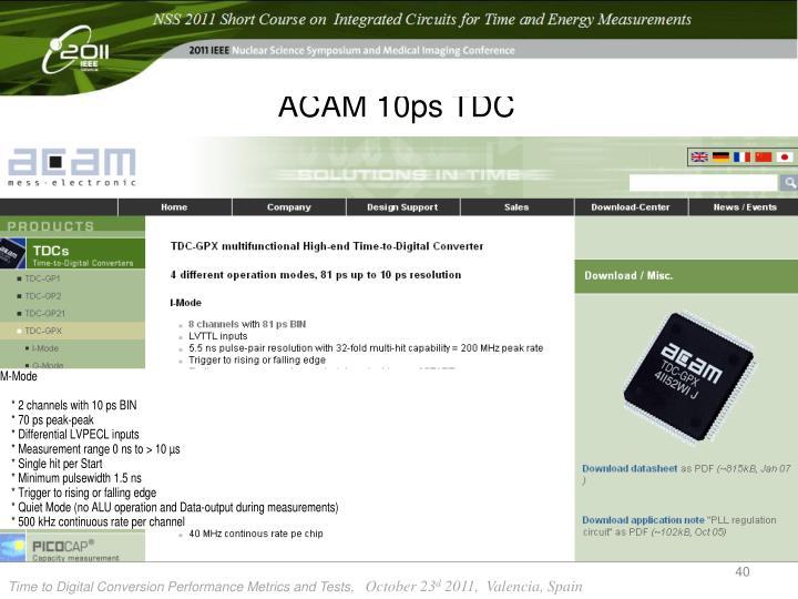 ACAM 10ps TDC
