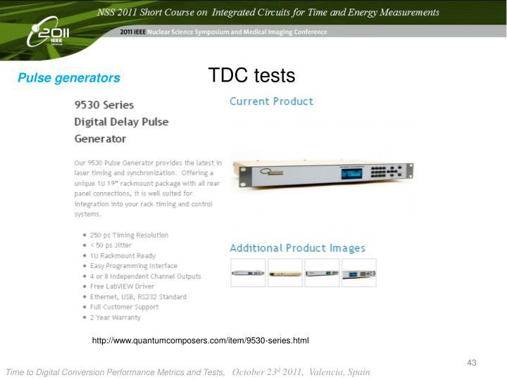 TDC tests