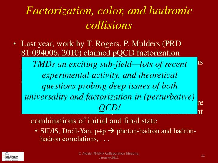 Factorization, color, and