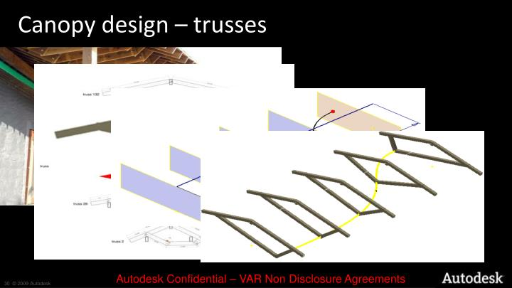 Canopy design – trusses