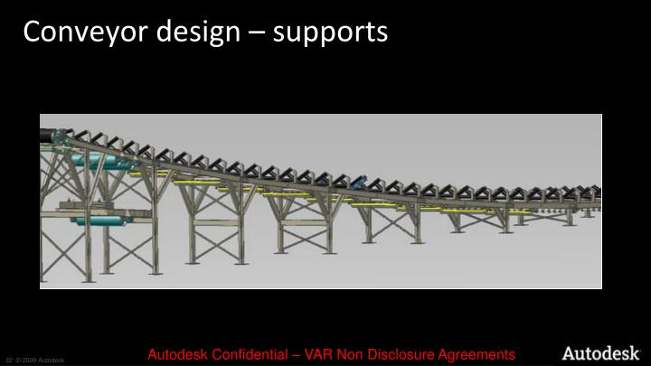 Conveyor design – supports