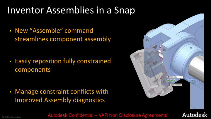 Inventor Assemblies in a Snap