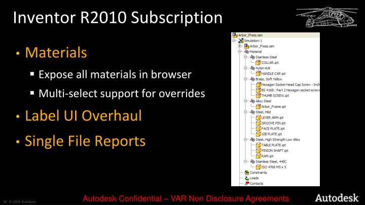 Inventor R2010 Subscription