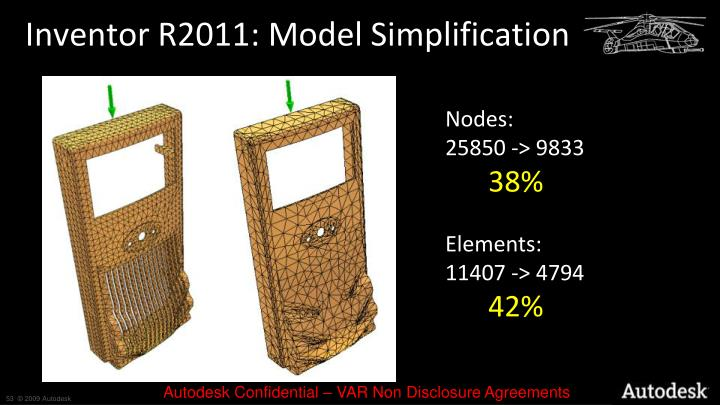 Inventor R2011: Model Simplification